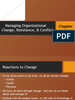 Managing Organizational Change, Resistance, & Conflict Report