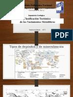CLASIFICACION TECTONICA DE LOS YACIMIENTOS METALIFEROS
