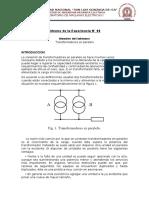 Informe de La Experiencia N6 transformadores en paralelo
