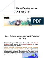 ANSYS V16 New Features Update