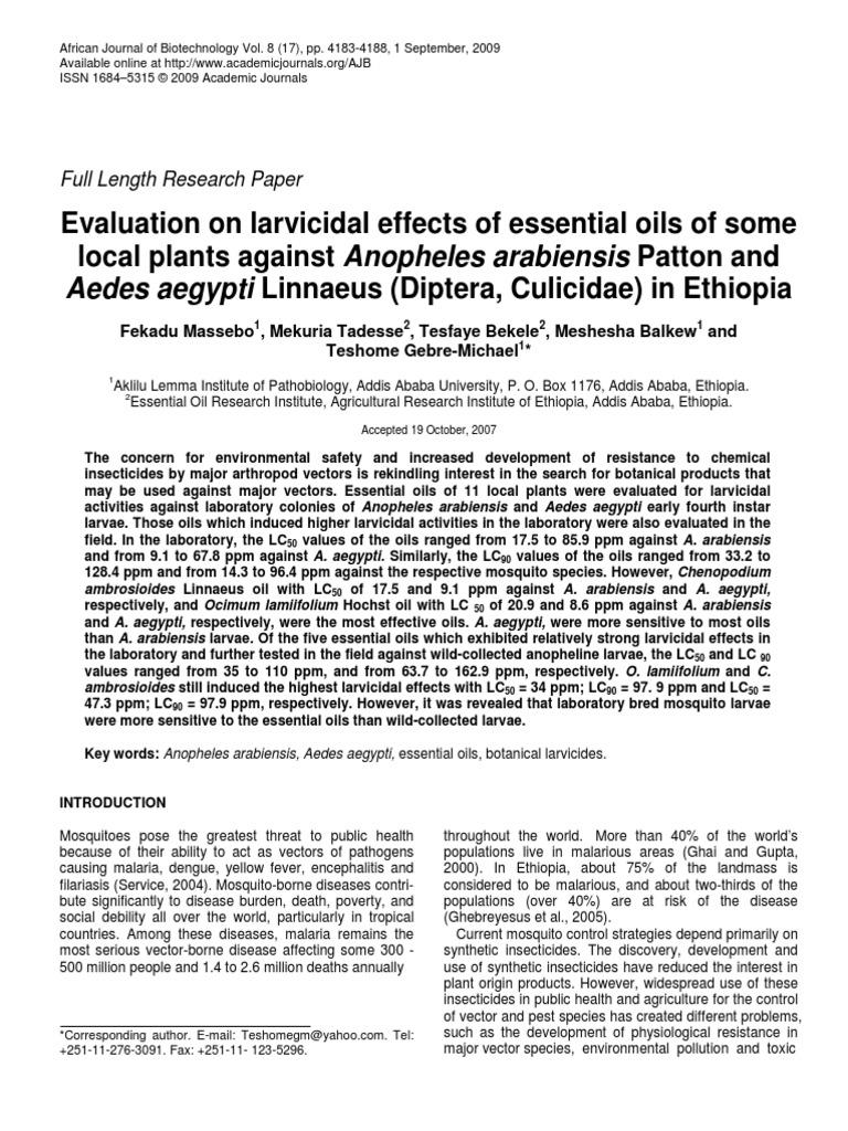 article1379859672_Massebo et al pdf   Aedes Aegypti   Malaria