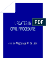 21. Updates in Civil Procedure 3 Hrs August 2011 Powerpoint-justice de Leon