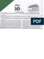 Articolo Resto del Carlino Banda di Lendinara a Cornuda