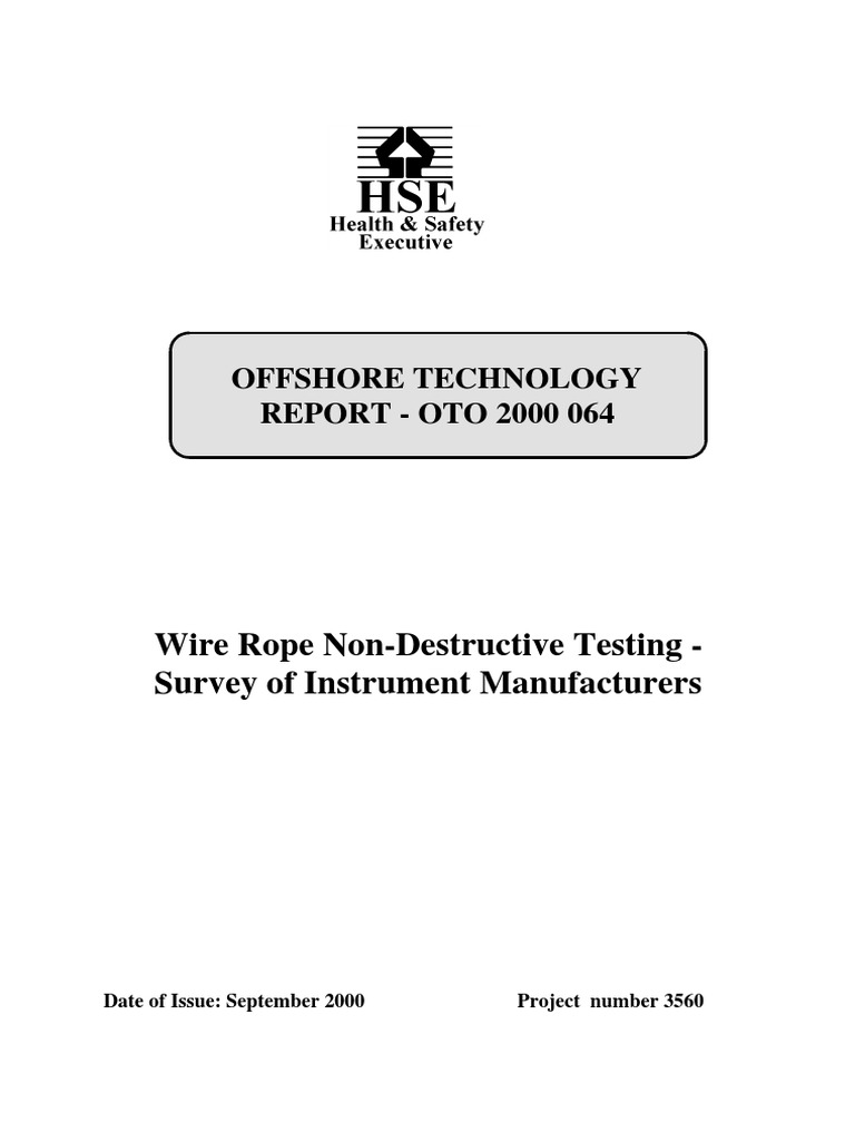wire rope testing.pdf | Nondestructive Testing | Inductor