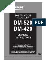 DM-520 DM-420 Detailed Instructions En