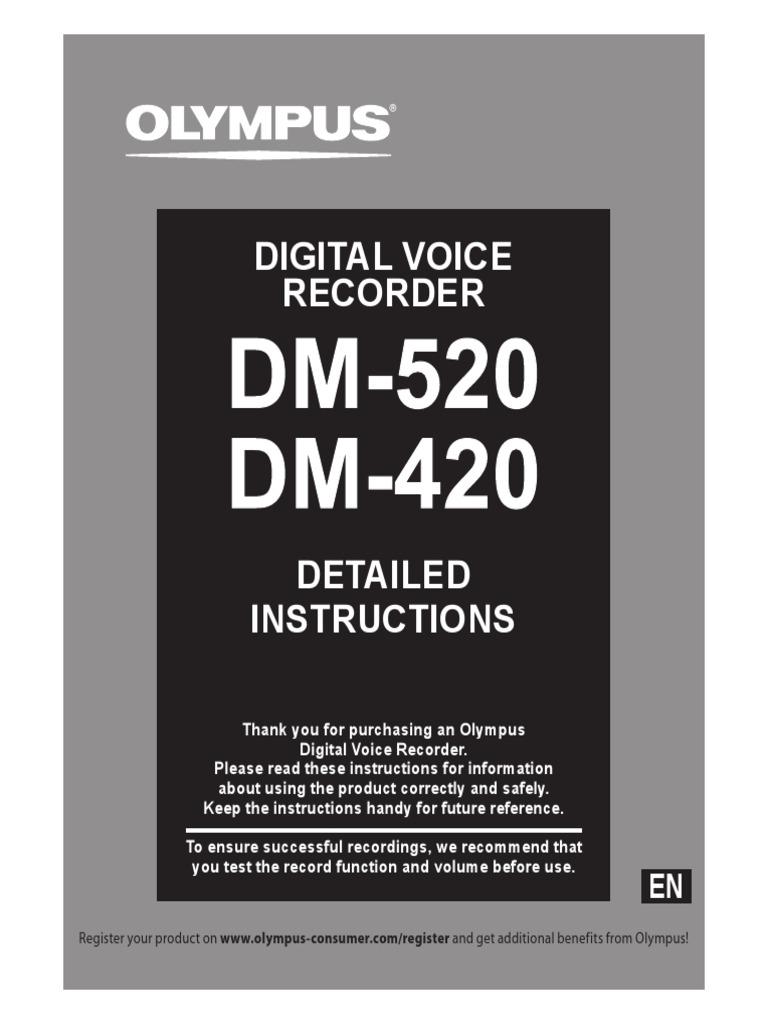 Dm 520 Dm 420 Detailed Instructions En Rechargeable Battery