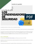 Conocer Los Condensadores de Seguridad - Fidestec