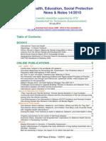 Health, Education, Social Protection News & Notes 14/2010