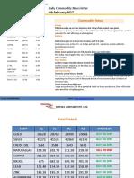 Ripples Advisory Daily Commodity Report 6-Feb 2017