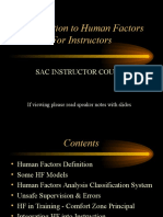 Human Factors for Instructor Course