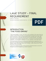 Case Study – Final Requirement