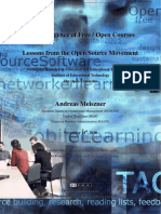 The Emergence of Free / Open Courses - Lessons from the Open Source Movement