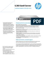 HP ProLiantDL360Gen9Server DataSheet