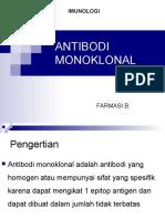 Anti Bodi Monoclonal Ppt