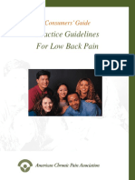 Consumer Guidelines for Low Back PainFinal 2-6-08