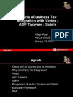 Tax Engine Comparison Ebtax Vertex Sabrix Taxware