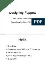 Designing Puppet