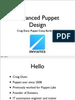 Advanced Puppet Design, by Craig Dunn