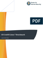 CIS CentOS Linux 7 Benchmark v2.0.0