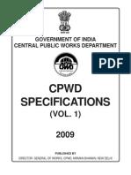 CPWD Speci Civil 2009 Vol1