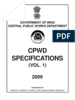 CPWD Speci Civil 2009 Vol1