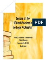 Legal Practices on the Legal Profession