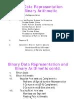 CSC102 Binary Data Representation...