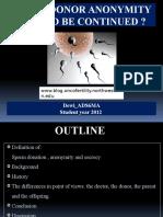 Sperm Donor Anonymity