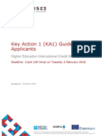 2016 Guide for Applicants Higher Education ICM Key Action 1 v3