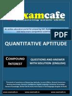 Compound Interest- English Practice Set 1