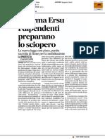 Riforma Ersu, i dipendenti preparano lo sciopero - Il Corriere Adriatico del 5 febbraio 2017