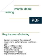 Requirements Model Testing