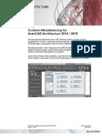 Contentaktualisierung ACA 2014-2015