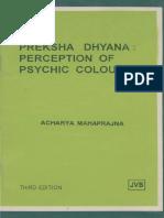 Preksha Dhyana Perception of Psychic Colours
