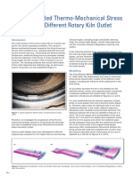 Thermo and Mechanical Stress Modelling Kiln Outlet Design