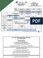 Feb 2017 Class Schedule