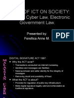 Malaysian Cyber Law, Electronic Government Law.