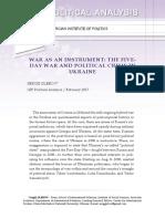 WAR AS AN INSTRUMENT