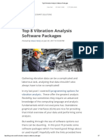 Top 8 Vibration Analysis Software Packages