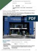 Lima_ Reunión Del Foro Económico Mundial en Perú