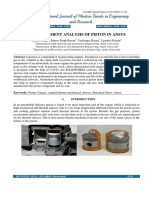 Finite Element Analysis of Piston in Ansys