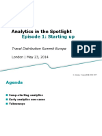 Analytics in the Spotlight