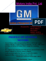 SWOT Analyses of General Motors India Pvt