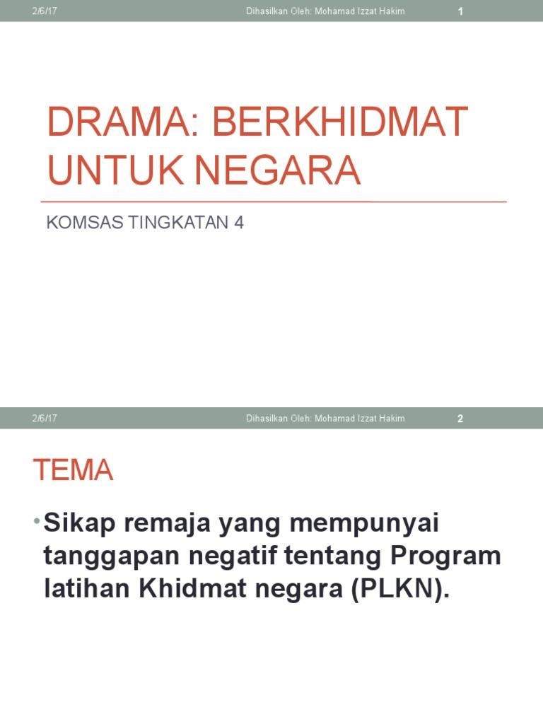 Drama Berkhidmat Untuk Negara