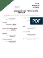 Disoluciones Ejercicios y Problemas Química