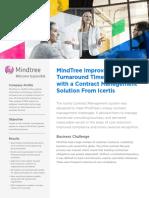 Mindtree Picks Uniquely Designed Icertis Contract Management Software