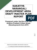 Kakatiya (Warangal) Development Area Draft Master Plan Report 18-03-2013.1 1