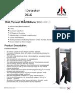 MiCRO MDH 6001 6001O Datasheet