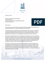 Child Care Letter - Mayor to Premier - 2017 02 05