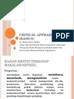 Critical Appraisal Basics